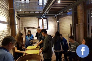 La scuola internazionale dei mestieri d'arte e gli studenti dell'Iis Merloni-Miliani
