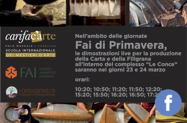 Il Fai ringrazia Carifac'Arte e la Fondazione Carifac