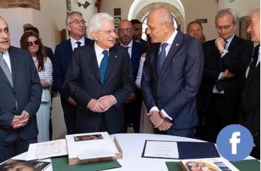 La consegna del nostro omaggio al Presidente della RepubblicaSergio Mattarella